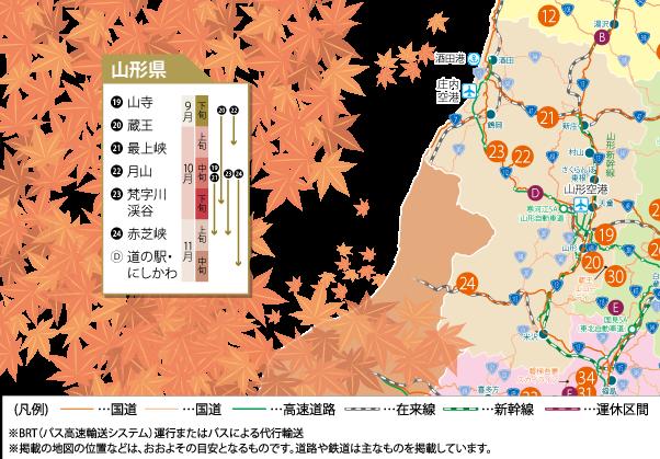 山形県紅葉情報